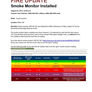 Forest Service Installs Smoke Monitor in Dillon