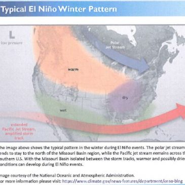 El Niño Outlook for Missouri Basin